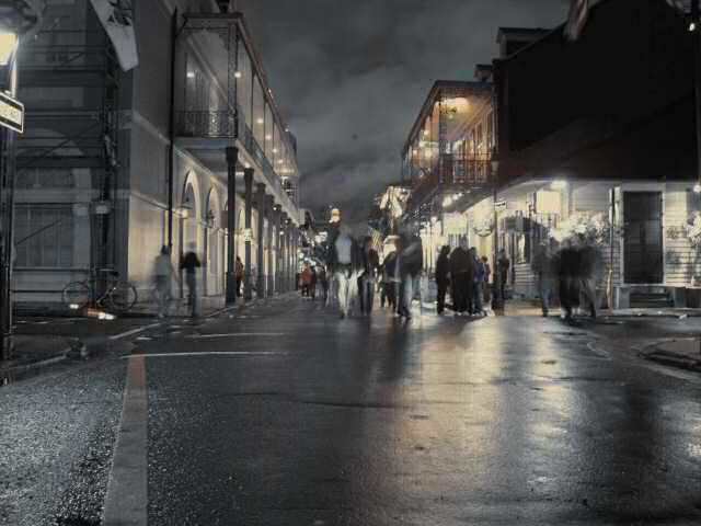 Photo of Bourbon Street at night